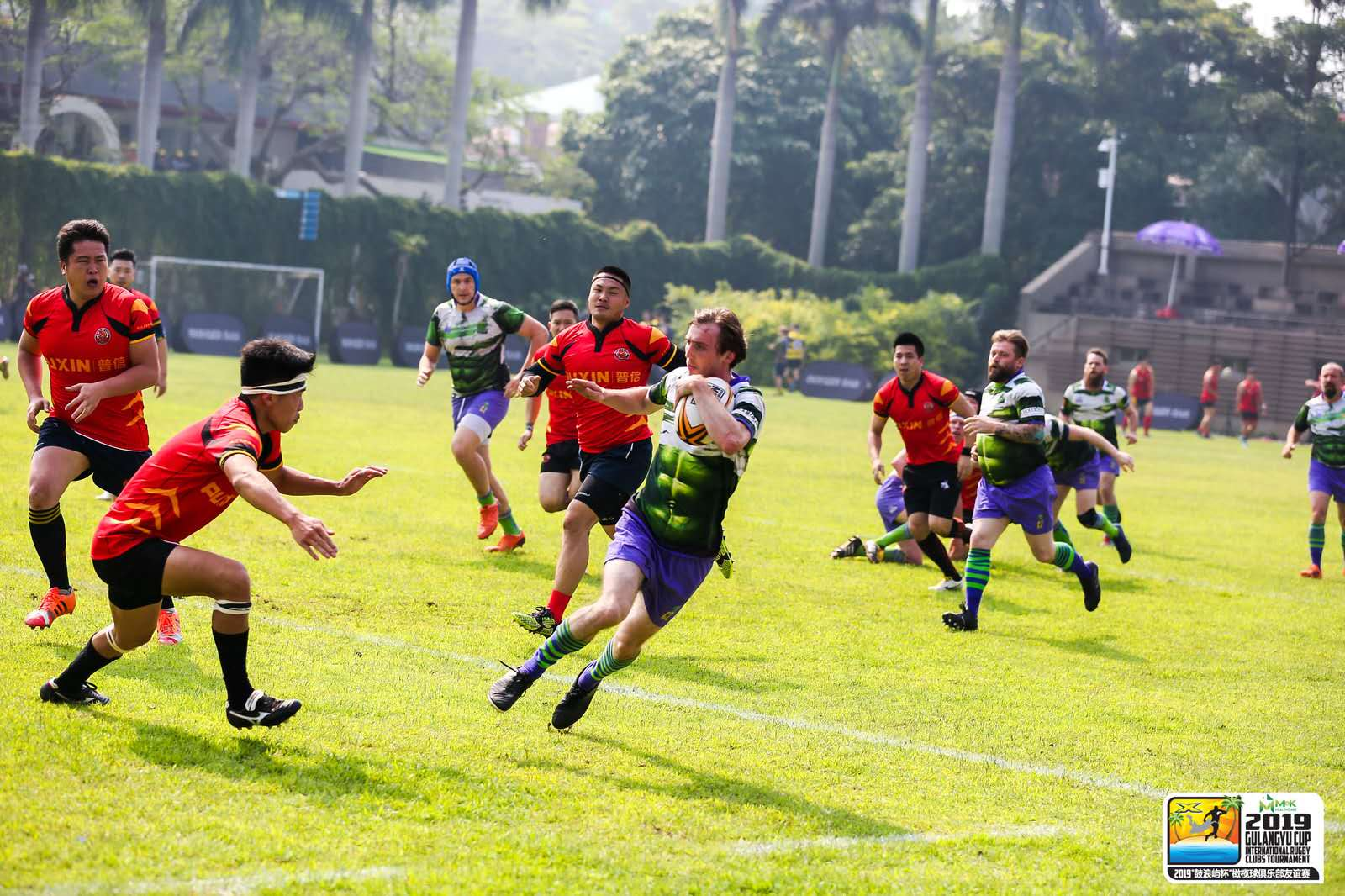 Pupils interest grows in rugby watching the Giants in Xiamen