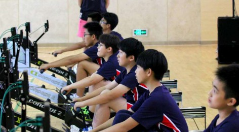 School Indoor Rowing Competition At WAIS